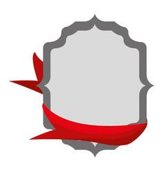 empty ribbon banner vector image