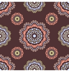 Ethnic floral seamless pattern5 vector
