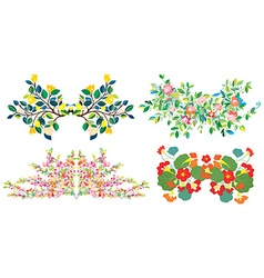 Floral compositions set for holidays vector image