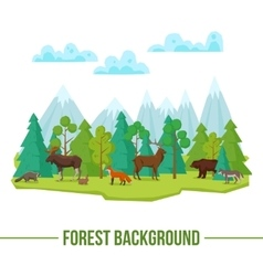 Forest Animals Background vector