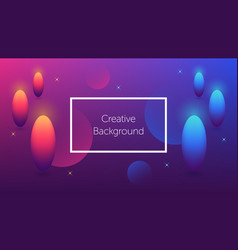Futuristic background with colorful shapes vector