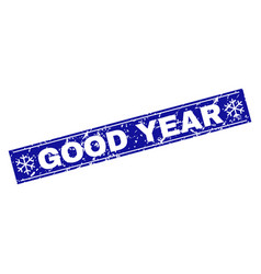 good year scratched rectangle stamp seal with vector image