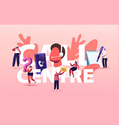 hotline service call center concept staff in vector image