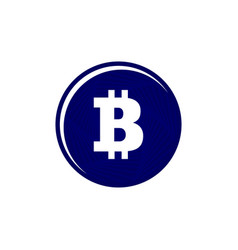 illsutrated flat bitcoin symbol coin on a white vector image