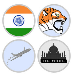 Indian tourism agency vector