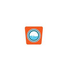 laundry logo icon vector image