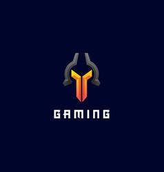 Logo spartan export style vector