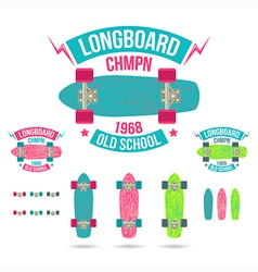 Longboard emblem vector