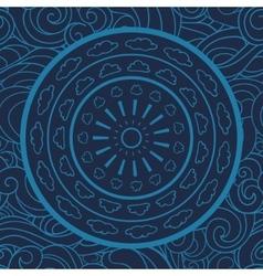 Mandala doodle seamless pattern circle vector