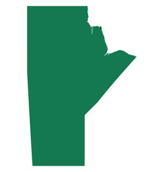Map of manitoba vector