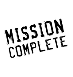 Mission complete stamp vector