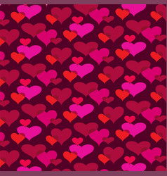 mod overlapping hearts background pattern vector image