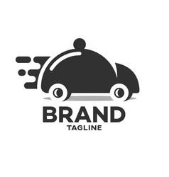modern fast food delivery logo vector image