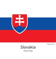 national flag slovakia with correct proportions vector image