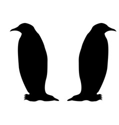 Penguin icon black color fill it is flat style vector