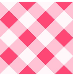 Pink White Diamond Chessboard Background vector image