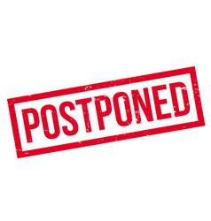 Postponed rubber stamp vector