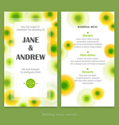 premium invitation wedding card vector image