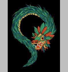 Quetzalcoatl aztec vector