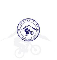 retro vintage bike downhill sport club badge vector image