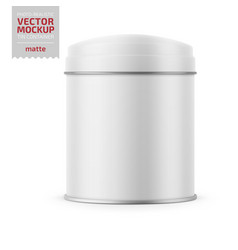 round matte tin can template vector image