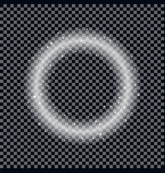 round shiny frame background christmas star effec vector image