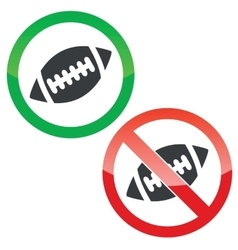 Rugby permission signs set vector image