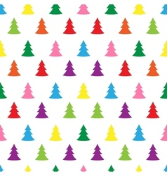 Seamless simple cute christmas tree vector image