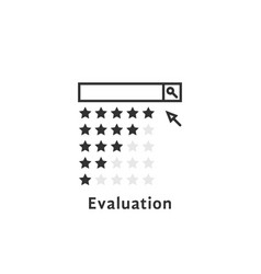 Simple evaluation logo like review or searching vector