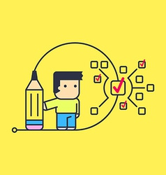 Small tasks to perform large tasks vector