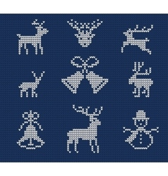 Ugly sweater Pattern 1 vector image
