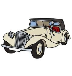 Vintage cream cabriolet vector