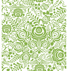Green spring floral seamless pattern background vector