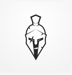spartan warrior image vector image