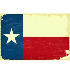 Texas flag vector image