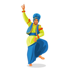 bhangra dancer in national cloth vector image vector image