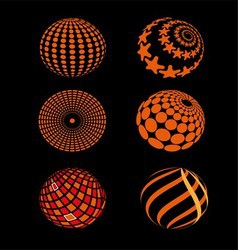 Spheres Circle Planet Icon vector image