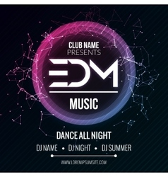 Edm club music party template dance party flyer vector