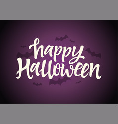 happy halloween - celebration card with hand drawn vector image
