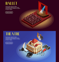 opera and ballet banners vector image vector image