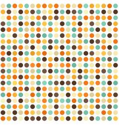Polka dot pattern seamless retro background vector