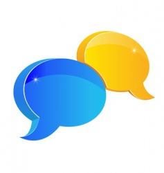 speech or chat icon vector image vector image