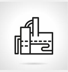 Sugar factory simple line icon vector