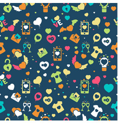 valentine day pattern vector image vector image