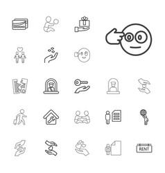 22 holding icons vector
