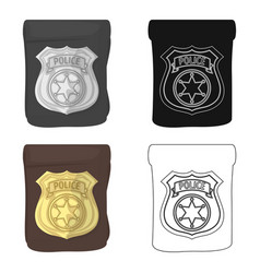 A badge a police badge detective and police vector