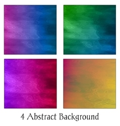 A set of four colorful abstract backgrounds vector image