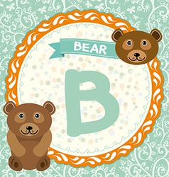 ABC animals B is bear Childrens english alphabet vector image