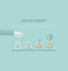 accumulation capital saving funds growing vector image