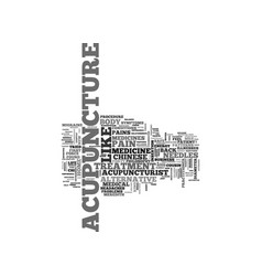 acupuncture the alternative medicine from the vector image